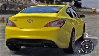Forza Motorsport 3 - Hyundai Genesis Coupe 2010 - Test Drive Gameplay (HD) [1080p60FPS]------------------------------------------Game Information:Forza Motorsport 3 is a racing video game developed for Xbox 360 by Turn 10 Studios. It was released in October 2009. It is the sequel to Forza Motorsport 2 and the third installment in the Forza series. The game includes more than 400 customizable cars (more than 500 cars in the Ultimate Collection version) from 50 manufacturers and more than 100 race track variations with the ability to race up to eight cars on track at a time. These cars vary from production cars to race cars such as those from the American Le Mans Series.__________________________________________