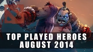 Top Played Dota 2 Heroes (August 2014) | Dota 2