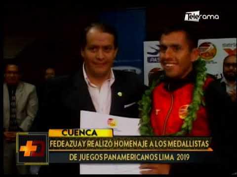 Fedeazuay realizó homenaje a los medallistas de juegos Panamericanos Lima 2019