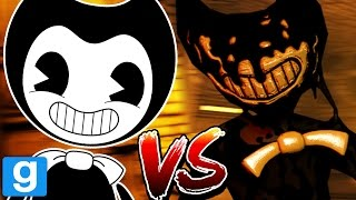 DEMON INK BENDY DESTROYS NORMAL BENDY || Bendy and the Ink Machine GMOD (BATIM Garrys Mod)