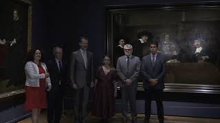 """S.M. el Rey inaugura la exposición """"Velázquez, Rembrandt, Vermeer. Miradas afines"""""""
