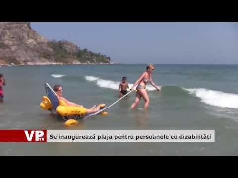 Se inaugurează plaja pentru persoane cu dizabilități