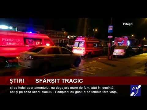 Incendiu într-un bloc din Pitești