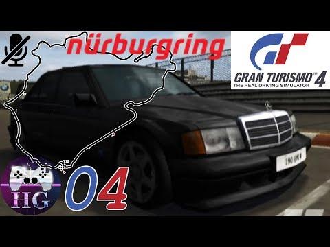 ITA Gran turismo 4. Argento al Nürburgring. Patente IA-15 Mercedes-Benz 190E Evo II 91. Gameplay