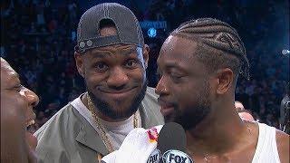 LeBron James VIDEOBOMBS Dwyane Wade's Last NBA Interview | April 10, 2019 | 2018-19 NBA Season