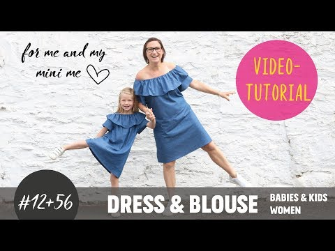 Off- and Over-Shoulder Dress & Blouse ganz einfach selber nähen DIY-Näh-Tutorial