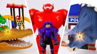 Video Go Go Baymax~! Giant Monsters in Playmobil Town MP3, 3GP, MP4, WEBM, AVI, FLV Oktober 2018