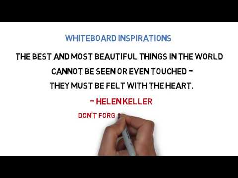 Brainy quotes - WHITEBOARD INSPIRATIONS  Helen Keller Quote