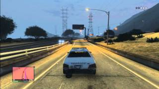 Grand Theft Auto 5 Police Chase High Way