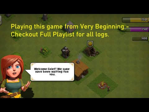 Clash of Clans Playing from Very Beginning - Vlog 28