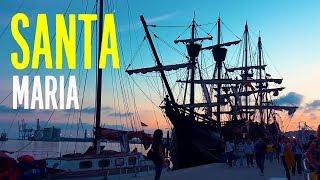 Корабль-музей, копия судна Христофора Колумба Nao Santa Maria в Малаге, Испания