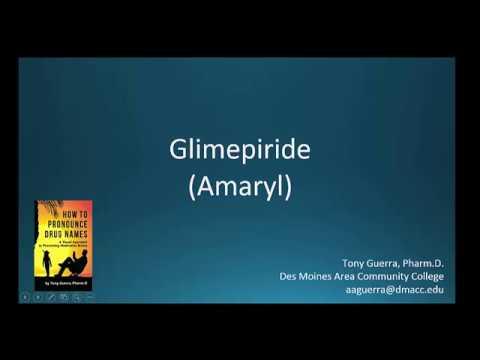 (CC) How to Pronounce glimepiride (Amaryl) Backbuilding Pharmacology