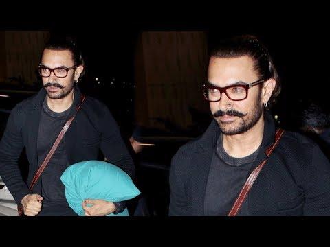 Aamir Khan In His New Look | Spotted At Mumbai Air