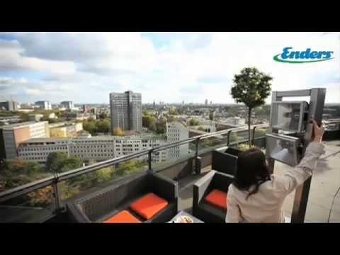 Видео Инфракрасные газовые обогреватели Enders Инфракрасный газовый уличный обогреватель ECOLINE