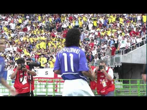 fantastico goal di ronaldinho in brasile-inghilterra (mondiali 2002)