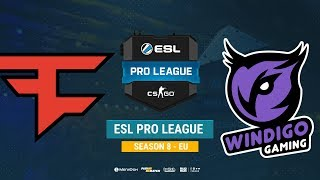 FaZe vs Windigo - ESL Pro League S8 EU - bo1 - de_overpass [Anishared]