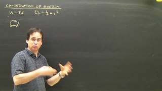 Physics Lesson:  Kinetic Energy And Work, Conservation Part 1 High School Tutorial