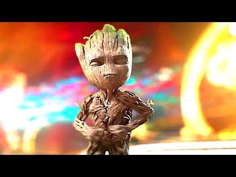 GUARDIANS OF THE GALAXY 2 - Intro of the Movie with BABY GROOT Dance (Blu Ray Clips + Trailer)