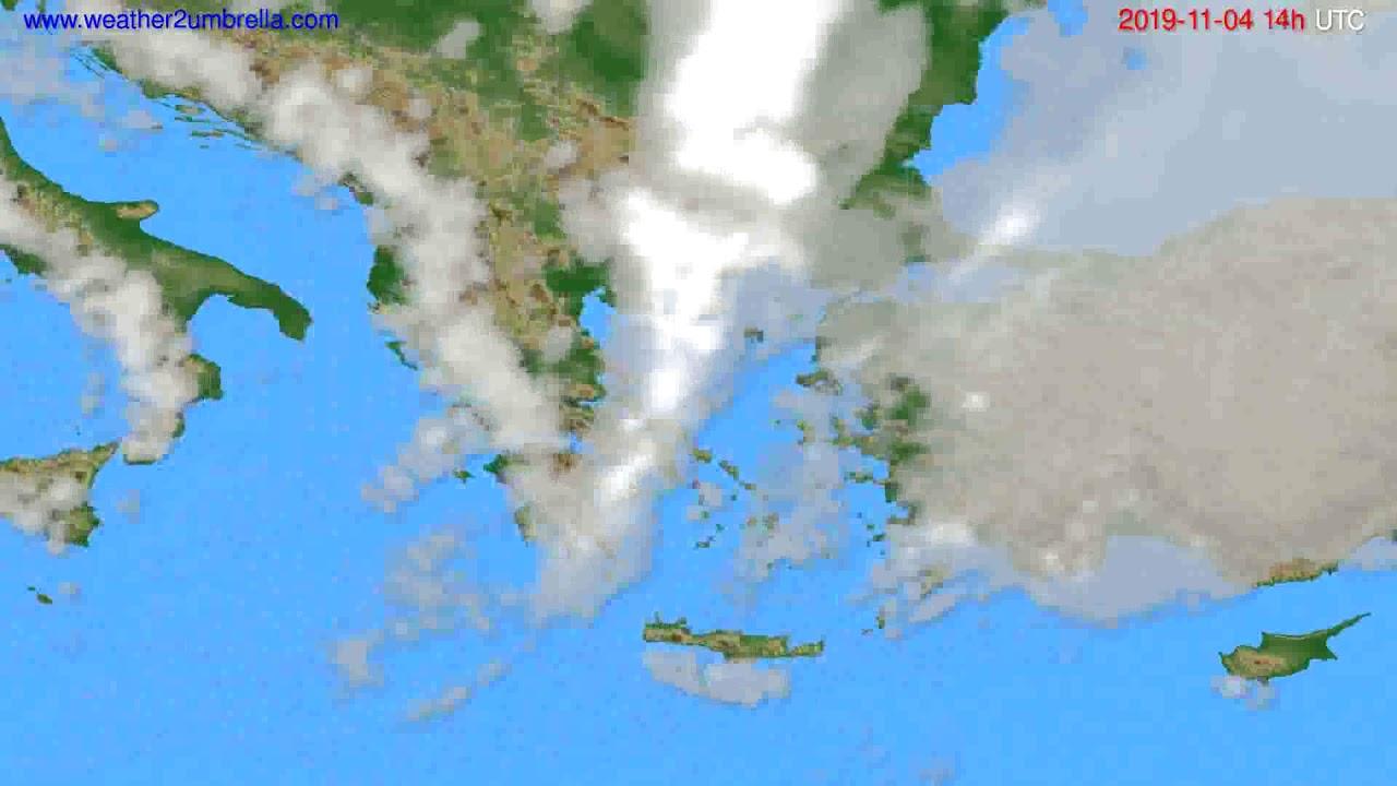 Cloud forecast Greece // modelrun: 12h UTC 2019-11-02