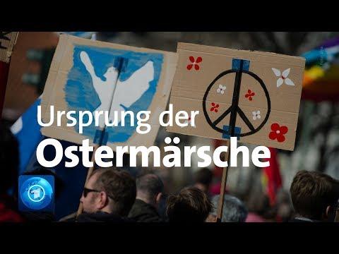 Demos der Friedensbewegung seit über 60 Jahren