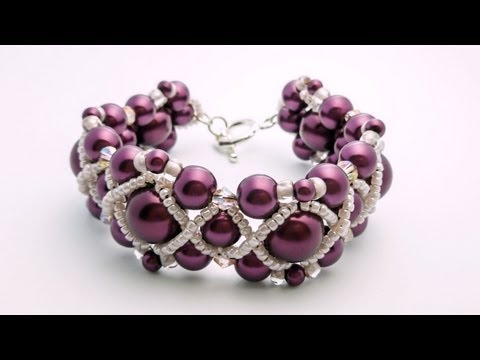 TheHeartBeading: Pearl Bracelet Tutorial