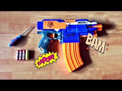 [TUTORIAL] How to power up your Nerf Stryfe in 4 mins / easy voltage modification