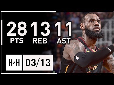 LeBron James Triple-Double Full Highlights Cavs vs Suns (2018.03.13) - 28 Pts, 13 Reb, 11 Ast, SICK!