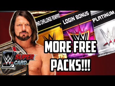 WWE SUPERCARD FREE PACKS & ISSUES!!!