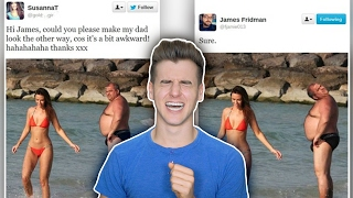 In this Reaction Time Episode I reacted to some of the worst photoshop fails on twitter all thanks to James Fridman, the photoshopping troll. For Video ...
