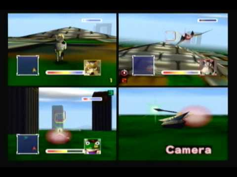 Landmaster - Random battle I recorded of Star Fox 64, from the Virtual Console, featuring a 3-on-3 all-out battle between an Arwing (Peppy), a Landmaster (Slippy), and an...