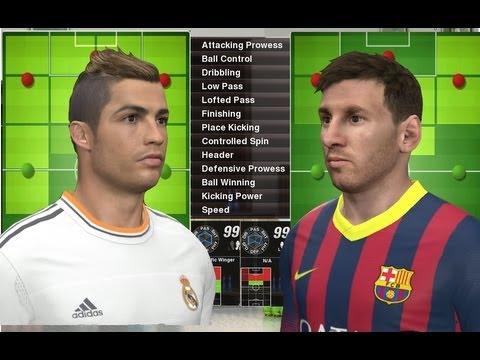 PES 2014 – Cristiano Ronaldo vs Lionel Messi Stats | HQ