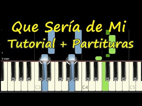 QUE SERIA DE MI Piano Tutorial Cover Facil + Partitura PDF Sheet Music Easy Midi