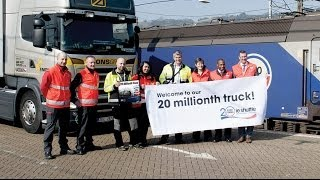 Coquelles France  City pictures : Eurotunnel Le Shuttle Freight welcomes its 20 millionth truck