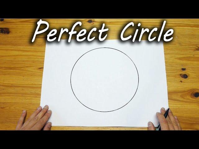 Cách vẽ hình tròn hoàn hảo bằng tay không