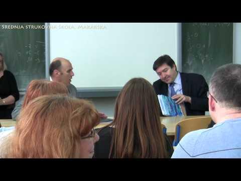 26.3.2015. - Ministar Vedran Mornar u Srednjoj strukovnoj školi, Makarska