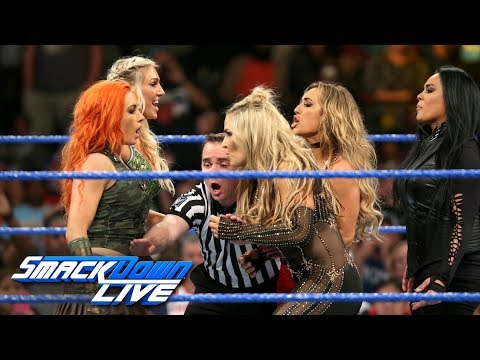 Chaos leads to historic match at WWE Money in the Bank: SmackDown LIVE, May 30, 2017 (видео)