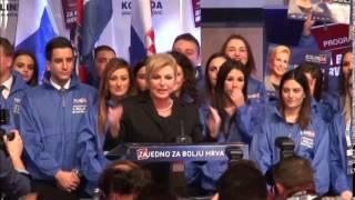 Govor Kolinde Grabar-Kitarović nakon proglašenja izbornih rezultata (28.12.2014.)