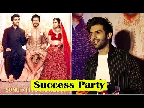Kartik Aaryan At Success Party Of Film Sonu Ke Titu Ki Sweety