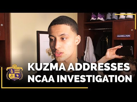 Video: Lakers Rookie Kyle Kuzma Addresses NCAA Investigation