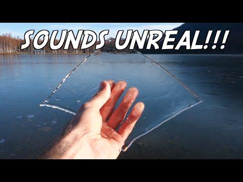 結冰湖上打水漂,竟然是這樣意想不到的聲音啊!