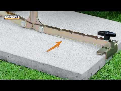 LANGFIT Plattenheber - Auf die richtige Plattengröße (bis 62cm) einstellen