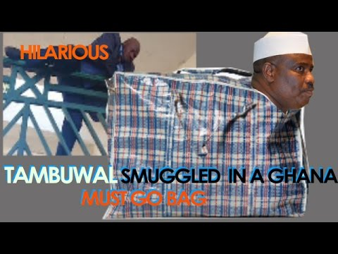 Lawmakers Smuggle Tambuwal Into The National Assembly in a Ghana Must Go Bag (Parody)