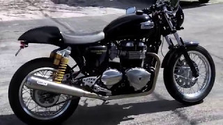 7. Pre-Owned 2015 Triumph Thruxton 900 Black & Gold at Euro Cycles of Tampa Bay
