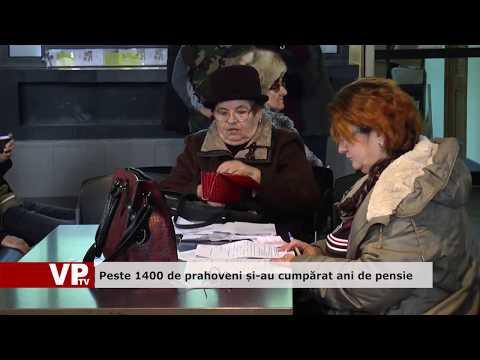 Peste 1400 de prahoveni și-au cumpărat ani de pensie