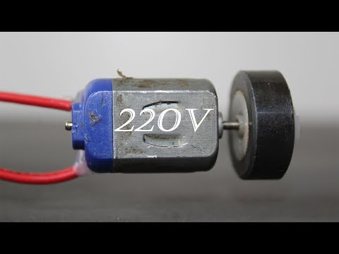 How To Make A Mini Generator 220v Using DC Motor