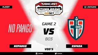 NoPangolier vs Espada (карта 2), MC Autumn Brawl, Плей-офф