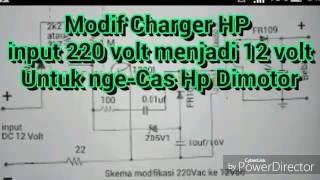 Modif Charger HP INPUT 220 Volt Menjadi 12 VoltModif Charger HP INPUT 220 Volt Menjadi 12 Volt