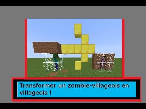 comment soigner un villageois zombie minecraft