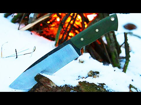 Knifemaking - knife from a wood saw