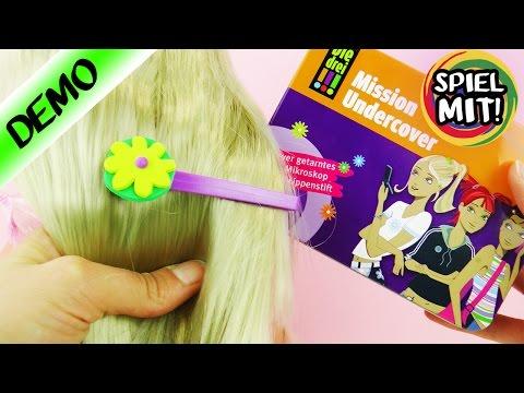 Drei Ausrufezeichen !!! Mission Undercover   coole Pinzette als Haarspange verzieren mit Mosgummi